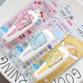 Plus japan sanrio hello kitty / gudetama / little twin star correction tape