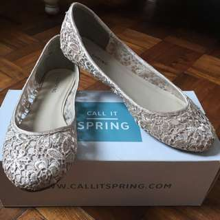 Call It Spring lace ballet flats