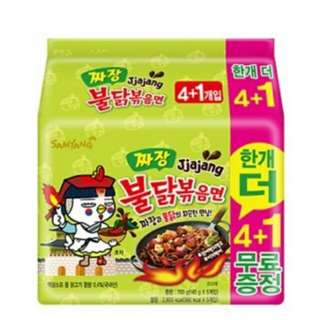 全港獨家 韓國代購 2018年3月 韓國炸醬味 三養火雞辣麵 5包 最新 辣味挑戰