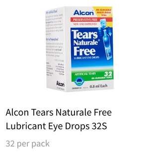 New Alcon Tears Naturale Free LUBRICATION  EYE DROPS