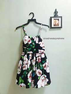 Floral Evening Short Dress