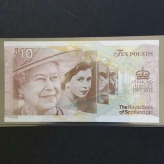 2012 The Royal Bank Of Scotland £10 Currency Banknote