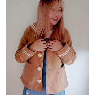 Japanese Brown Sailor Coat