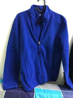 Uniqlo Blue Zipper Sweatshirt (Size-S)