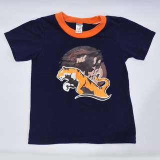 Bebe Navy Blue Tiger Boys Tee Tshirt Top Shirt ~ Preloved