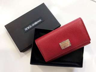Authentic Dolce Gabbana Red Keypouch