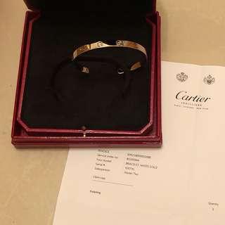 Cartier Love Bracelet (White Gold) Size 19
