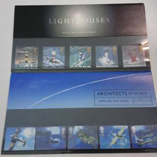 Royal Mail Presentation packs (Lighthouse + Architects of Air)