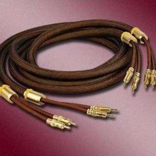 Choseal秋葉原 LB5109 發燒級單晶銅喇叭線 音響線 24K鍍金香蕉插頭 2.5米