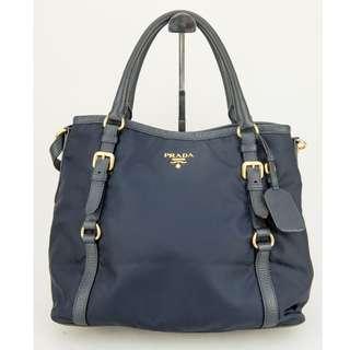 Prada BR4993 Tessuto Vit Shopping Tote (Bleu)