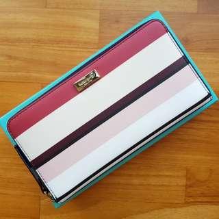 2018 Kate Spade Laurel Way Berber Stripe Neda (Large Wallet)