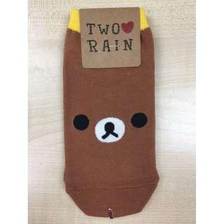 Korean Socks (Line Brown)