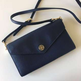 Authentic Tory burch bag shoulder bag navy