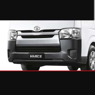 Hiace stock bumper for euro 5
