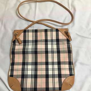 Authentic Burberry blue london baby pink sling bag