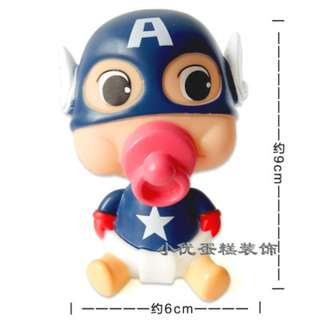 Party decoration ornaments -American Captain birthday cake decoration accessories