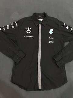 PETRONAS AMG Mercedes F1 Team Shirt 2015 (Black, S/M)