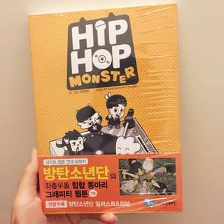 BTS hip hop monster comic book