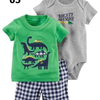 Carter 3in1 baju bayi laki laki