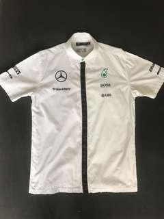 PETRONAS AMG Mercedes F1 Team Shirt 2015 (White, S/M)
