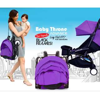 ORIGINAL Purple Baby Throne Stroller – Advance (Ultralight weight)