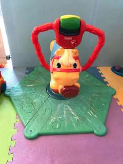 Fisher price bouncing horse