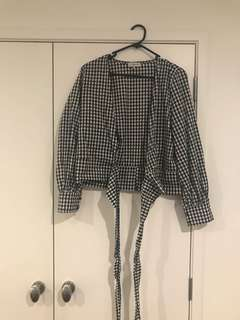 Gingham Wrap Around Top