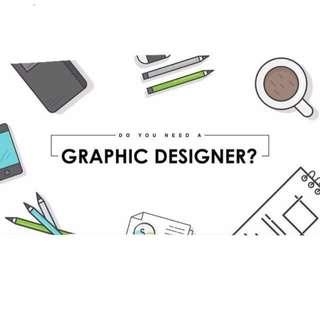 GRAPHIC DESIGNER FOR HIRE!!