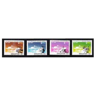 SINGAPORE 1982 10TH ANNIV. OF CONTAINER TERMINAL COMP. SET OF 4 STAMPS IN FINE USED CONDITION
