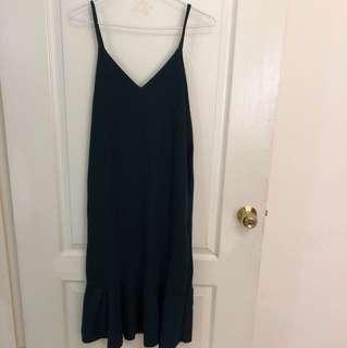 墨綠魚尾洋裝