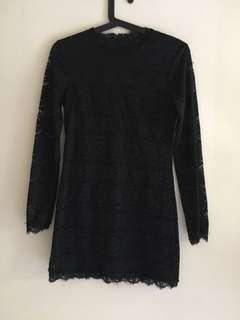 Sexy lace black dress