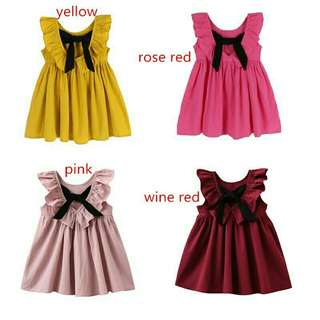 Bowknot summer dress
