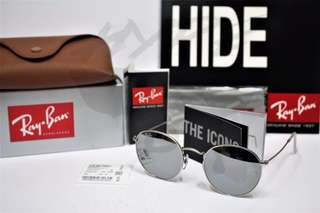 Authentic Ray Ban Round Metal RB3447 019/30 50MM Flash Mirror Lens.