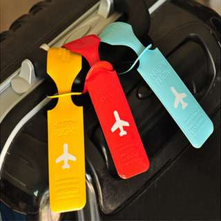 PROMO PVC Cute Travel Luggage Label Straps Suitcase ID Name Address Identify Tags Luggage Tags Airplane Travel Accessories