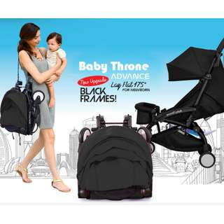 ORIGINAL Black Baby Throne Stroller – Advance (Ultralight weight)