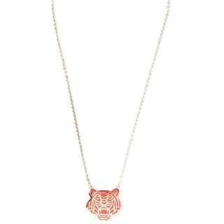 Kenzo 金色琺瑯紅虎鎖骨頸鏈