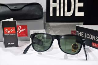 Authentic Ray Ban Wayfarer Folding RB4105 601 54MM Large