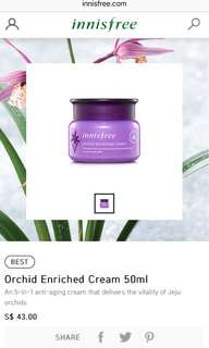 BN Innisfree Orchid Enriched Cream 50ml