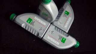 4 bottles of Nissan Matic D atf engine oil