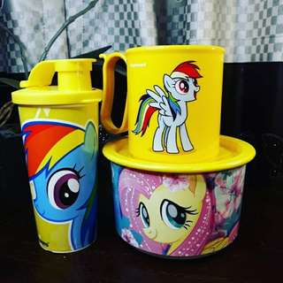Paket tupperware littel pony kuning