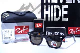 Ray Ban Wayfarer Classic RB2140 902/58 Tortoise 50MM Medium Asian Fit Polarized.