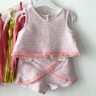 4-6mths girl baby clothes set / bodysuit