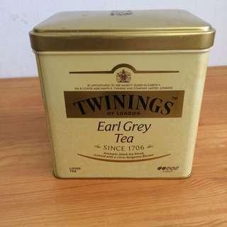 TWININGS伯爵茶葉空鐵罐