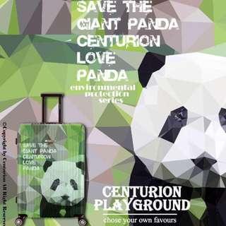 ☆CENTURION☆行李箱航空城 網路最低價 可貨到付款 可愛 大熊貓 保護 大自然 拉鍊 行李箱 22.26.29吋