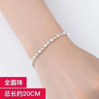 全圓珠925銀手鍊