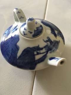 Dainty Blue Novelty Miniature Chinese Teapot
