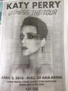 Katy perry concert ticket