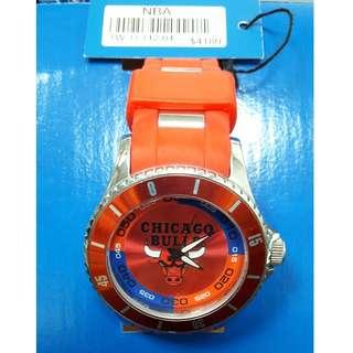 NBA 經典球隊熱血鋼粒腕錶-紅(芝加哥公牛隊)45mm