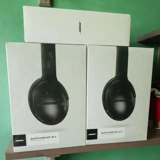 *FLASH SALE* Bose QuietComfort QC35 II (Brand new & sealed) + Free airplane adapter!