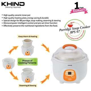 [FREE POSTAGE SM] Baby porridge cooker slow cooker